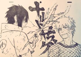 Naruto Vs Sasuke - The Final Countdown by PabloLPark