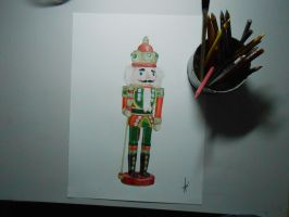 Drawing The Nutcracker classic soldier Christmas by DibujarteRiestra
