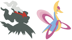 Darkrai and Cresselia Base by SelenaEde
