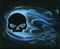 Purple flames skull by Sarmati on DeviantArt