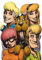 Daily Sketches Scooby Doo Gang by fedde