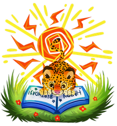 the sun, jaguar and the book by 0okami-Rei