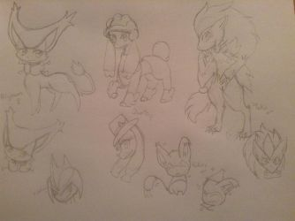 Character Designs Practice (GP) by ChanChan-the-Leafeon