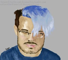 Blue//Markiplier by NotAnotherFanArtist