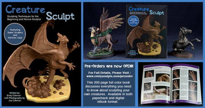 Creature Sculpt Pre-Orders Now Available! by emilySculpts