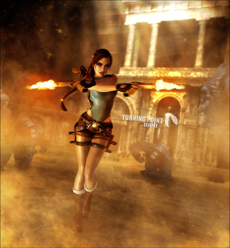 Lara Croft Tomb Raider Anniversary Render by FearEffectInferno