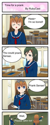Time for a prank (Test Comic) by RubyCast