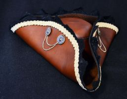 Leather Tricorn by Zidra