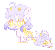 [CLOSED] ++Starry Night - Primal Plant Pony++ by LilacAdoptables