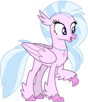Mlp Base silver stream (Hippogriff) by lorenacarrizo18