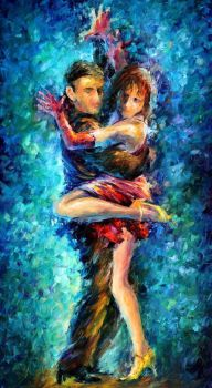Beautiful Dance 2 by Leonid Afremov by Leonidafremov
