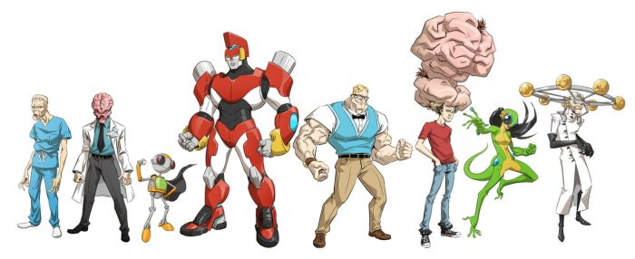 Character designs by robnix