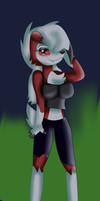 Wendy the Lycanroc by KendraTheShinyEevee