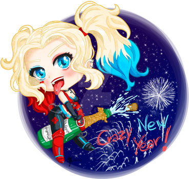 Harley Quinn: Crazy New Year! by oOCrazyKittyOo