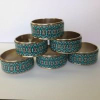 Polymer clay napkin rings by KimmieNL