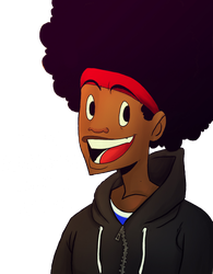 The RANDOM AFRO GUY... by chillyfranco