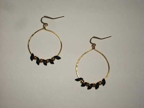 Bear Claw Earrings - Gold by Partial-Credit