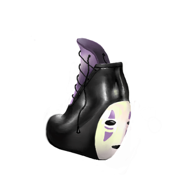 NoFace shoe with laces by renurenu