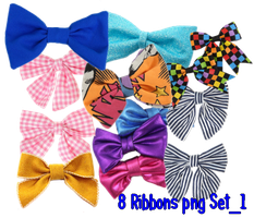 8 Ribbon's Png Set1 by JEricaM