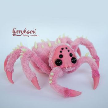 cute spider poseable art toy by Furrykami by Furrykami-creatures