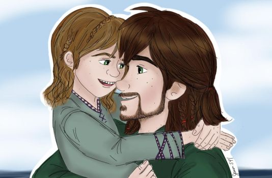 Daddy Hiccup by Jenni41