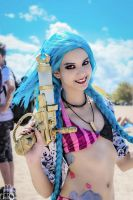 Jinx Cosplay Beach Party - League of Legends by AlessaHasashi