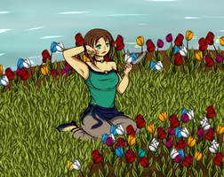 Contest Entry : Mika's Garden by Eymixx