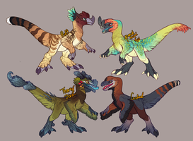 cute Dino Adopts by Avian-king