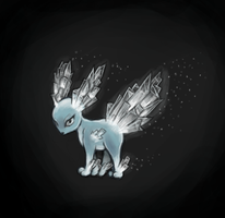 Frosteon? Ice Eevee concept by rustyyy