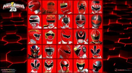25th anniversary of Red rangers by scottasl