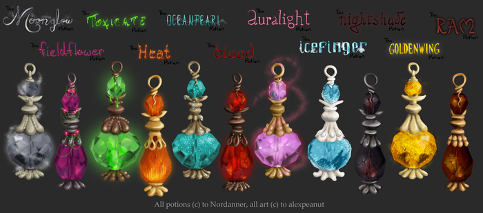 The Nordanner Potions by alexpeanut