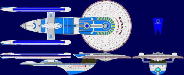 USS Excelsior Proto Multi-View by captshade