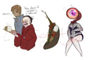 New OCs Sketches by TheScarletCrow
