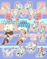 MY bab's ref sheet! (ARTWORK NOT BY ME) by checkered-crime