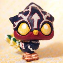 Helmaroc King from Zelda (baby version) LPS custom by pia-chu