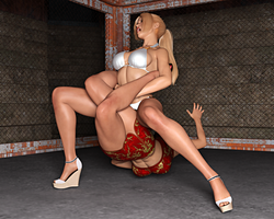 Nina Vs Anna: Double Heel Hold 2 by FatalHolds