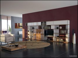 3D TV Roomset 6 by FEG