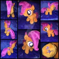 MLP 7in Filly Scootaloo Plushie - EFNW 2016 by RubioWolf