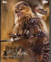Star Wars: The Force Awakens Chewie promo poster by Artlover67