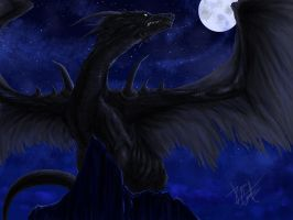 Moonlight dragon by Castaguer93