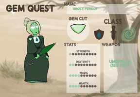 Ghost Peridot- Gem Quest by Blixxing