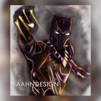 Black Panther Fan Art by aahndesign