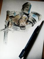 Warden - Wip - Ink and watercolors by Musiriam