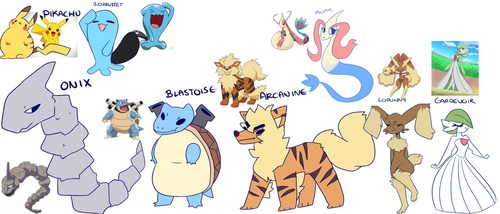Pokemon From Memory by MotherMinix