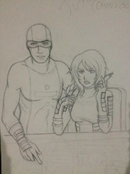 Young Justice Version of Billy Numerous and Maria by DANI-INKS