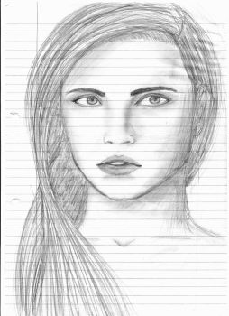 Pencil Profile Sketch from Memory by Ishouldbedoingwork17