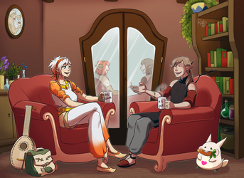 [Commission] A lovely chat by RiikoChick