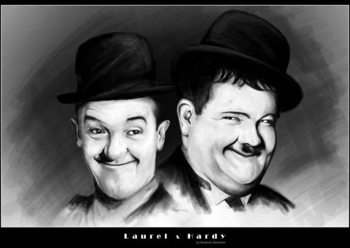 Laurel and Hardy by MaNkIbOwN