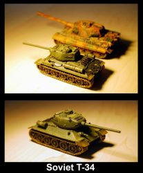 Soviet T-34 medium tank by khor11