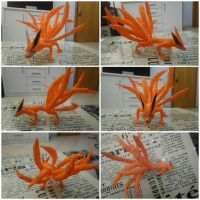 Kurama/Kyuubi 3D pen creation by Lupidelline